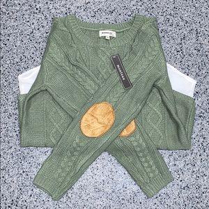 Monteau Half Sweater, Half White Button-Up